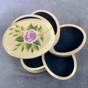 FlexZorb Floral 5 Tier Oval Swivel Jewelry Box